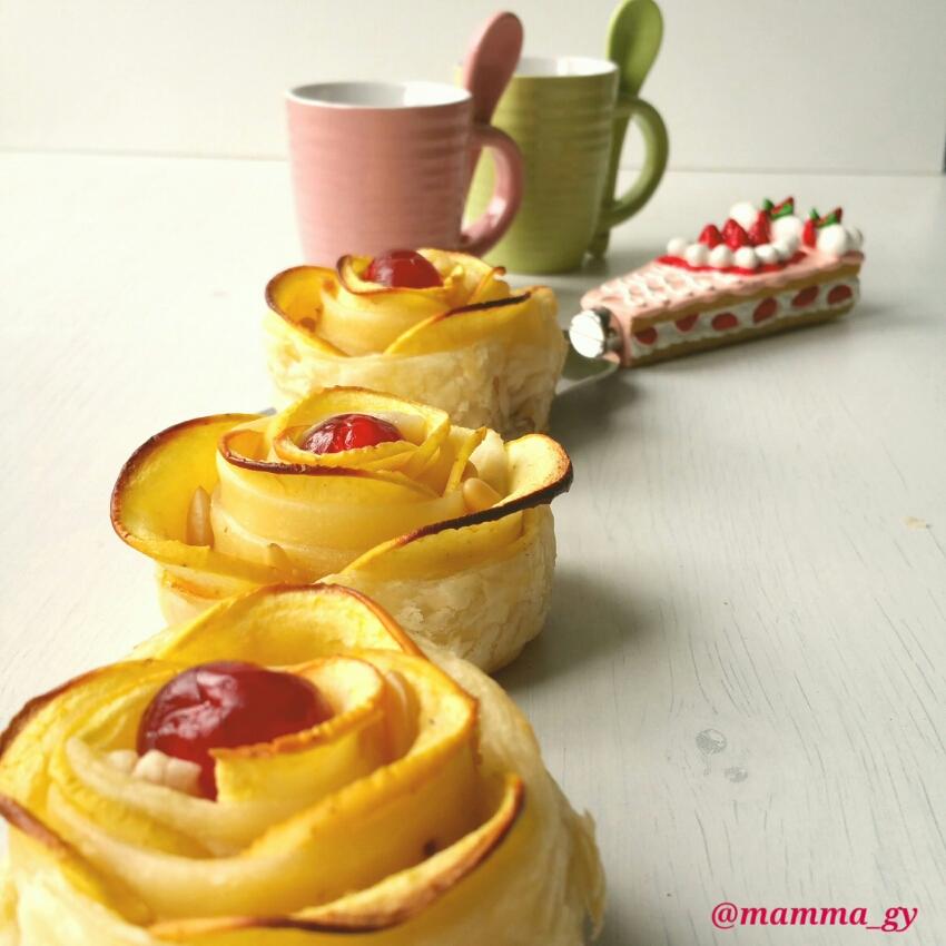 Roselline di mele con muesli croccante